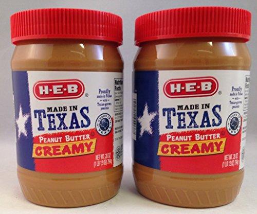 Bundle Pack (2 Items) HEB Creamy Peanut Butter - 28 Ounce Jar