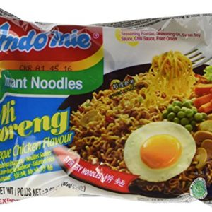 Indomie Instant Fried Noodles BBQ Chicken Flavor for 1 Case (30 Bags)