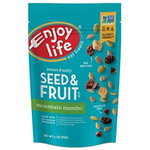 Enjoy Life Seed & Fruit Mix, Soy free, Nut free, Gluten free, Dairy free, Non GMO, Vegan, Mountain Mambo, 6 Ounce Bag