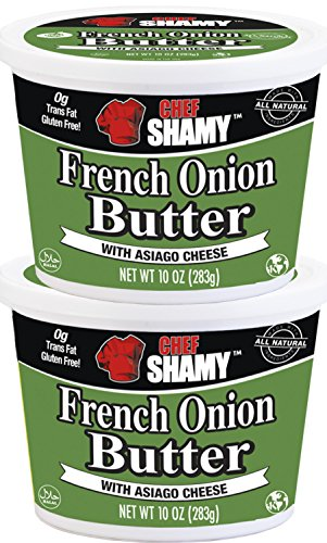 Chef Shamy Butter With Asiago Cheese, French Onion, 10 Ounce (Pack of 2)