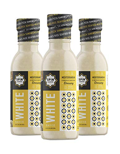 Spin Sauce Mediterranean & Middle Eastern Dressing, White Sauce, 12 Fluid Ounce, Pack of 3