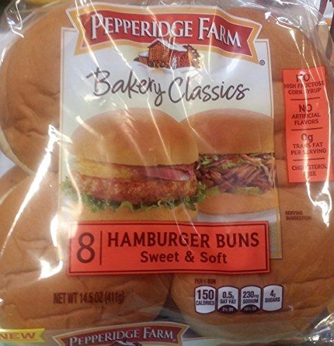 Pepperidge Farm Bakery Classics Sweet & Soft Hamburger Buns 8 Ct (Pack of 2)