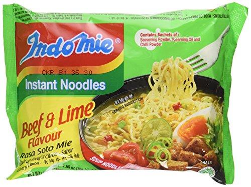 Indomie Instant Noodles Soup Rasa Soto Mie (Beef & Lime Flavor) Halal - 2.65 Oz (Pack of 10)