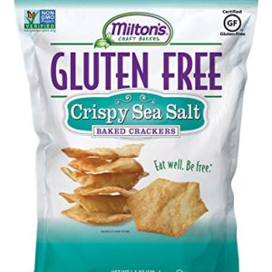 Milton's Craft Bakers Gluten-Free Baked Crackers, Crispy Sea Salt, 4.5 Ounce