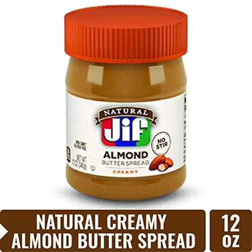 Jif Natural Creamy Almond Butter Spread, 12 oz