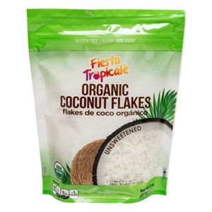 Shredded Coconut Flakes, Organic Unsweetened, Desiccated, Gluten Free, Sugar Free, Great for Vegan, Paleo, Keto Recipes, Add to Smoothies, Oatmeal, Fruits - 8oz. Bag (Count of 3) by Fiesta Tropicale