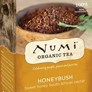 Numi Organic Tea Honeybush, 18 Count Box of Tea Bags, Herbal Teasan (Packaging May Vary)