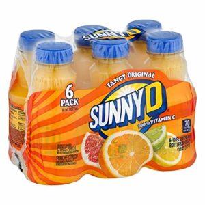 Sunny D Fruit Juice, Orange, 10 Fl Oz, 6 Count (Pack of 4)