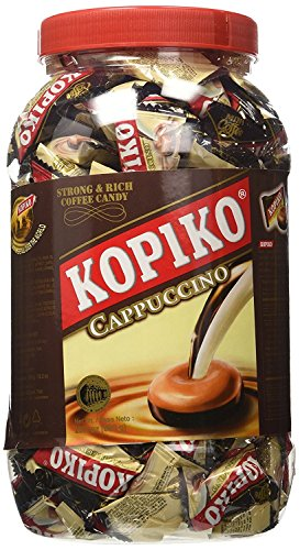 Kopiko Coffee Candy, Cappuccino in JAR 28.2 OZ