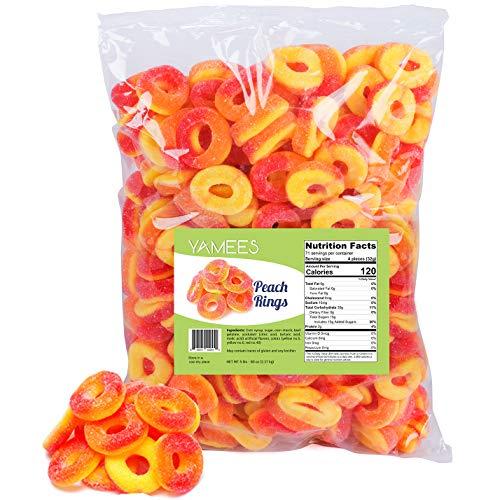 Peach Rings - Gummy Rings Candy - Gummy Rings Bulk - Bulk Candy - 5 Pounds (Peach)
