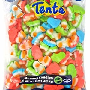 Tenta Gummi Penguins - Halal, Kosher, Gluten Free Gummy Candy - 2.205 LB (1 Kg)