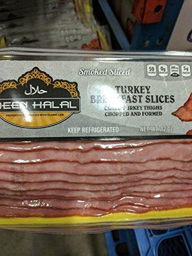 Deen Halal Turkey Bacon 12 Oz (6 Pack)