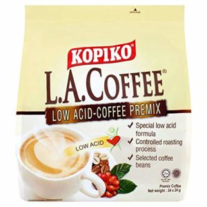 3 Pack Kopiko LA Coffee Low Acid-Coffee Premix (3 x 24 Sachets) Free Express Delivery