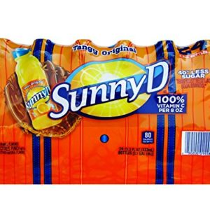 Sunny D Tangy Original Orange Flavored Citrus Punch Drink with Other Natural Flavors, 24 Count