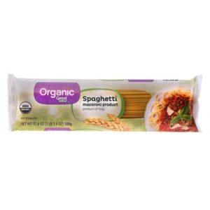 Great Value Organic Spaghetti, 17.6oz