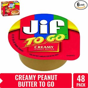 Jif To Go Creamy Peanut Butter, 1.5 oz., 48 Total Cups – Convenient On the Go Pack