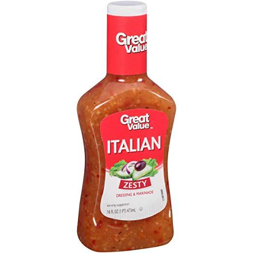 Great Value Zesty Italian Dressing & Marinade, 16 Oz