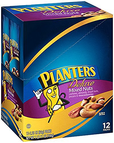 Planters Deluxe Mixed Nuts (12 count Box)