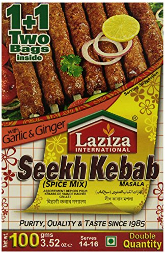 Laziza Seekh Kabab Masala, 100-Gram Boxes (Pack of 6)