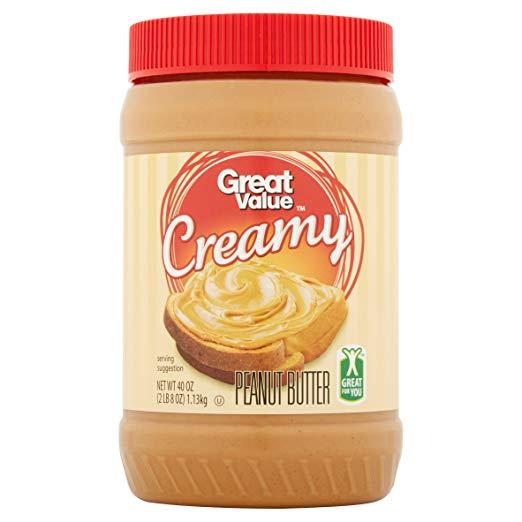 Great Value Creamy Peanut Butter, 40 ounces