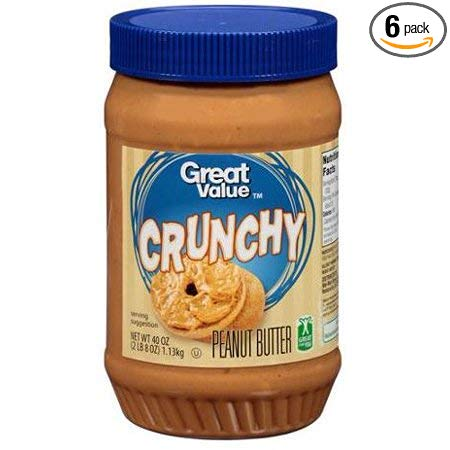 Great Value Crunchy Peanut Butter, 40 ounces