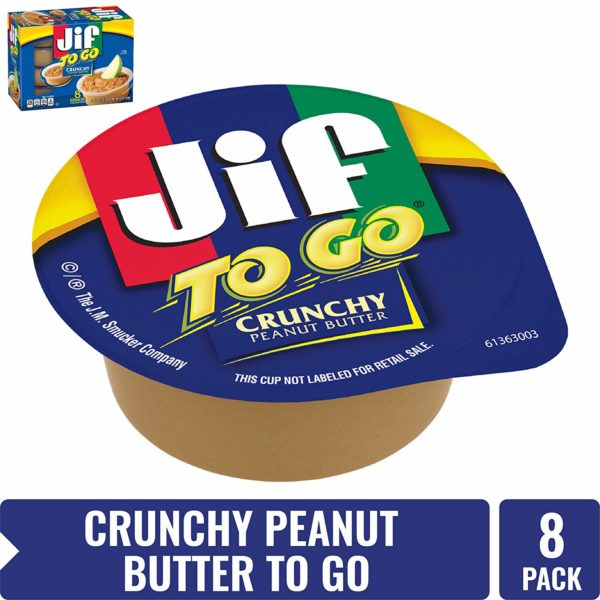 Jif To Go Crunchy Peanut Butter, 8 Count