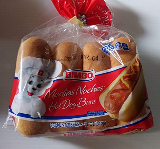 Bimbo Hotdog Buns 8ct (2 pack)