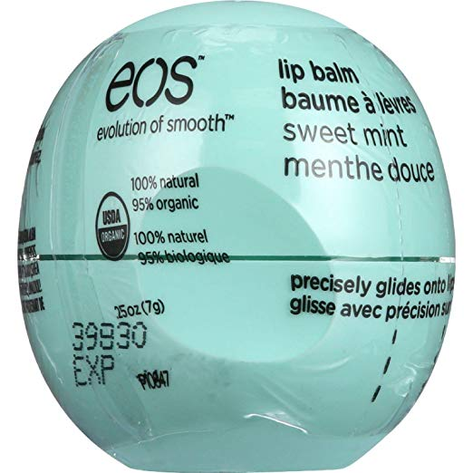 EOS Products Lip Balm - Organic - Smooth Sphere - Sweet Mint - 0.25 oz