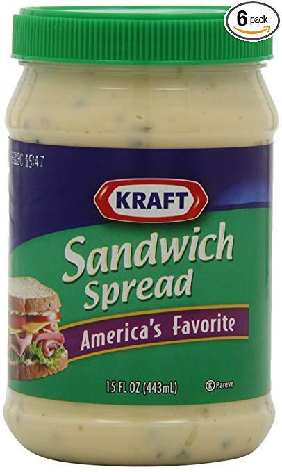 Kraft Sandwich Spread, 15-Ounce Jars