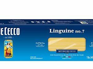 De Cecco Semolina Pasta, Linguine Fini No.8, 1 Pound (Pack of 5)