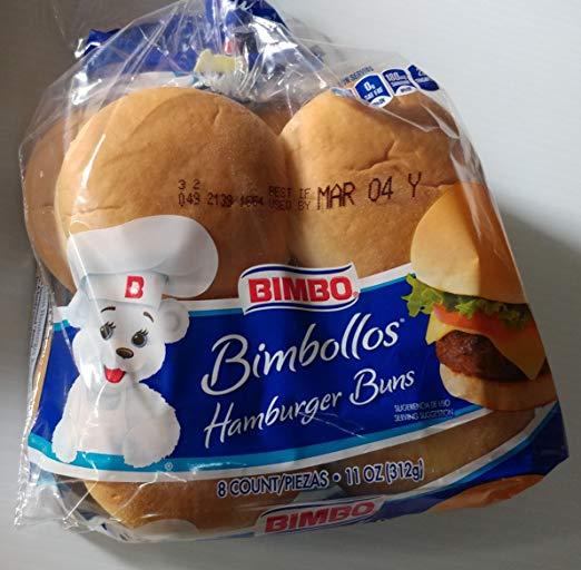 Bimbo Hamburger Buns, 8 ct (2 pack)
