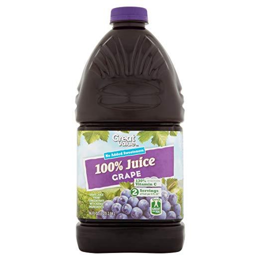 Great Value 100% Grape Juice, 96 fl oz