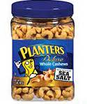 Planters Deluxe Whole Cashews with Pure Sea Salt, 2 lb Units, (Pack of 2)