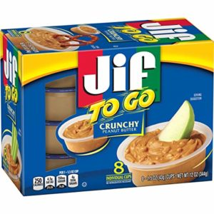 Jif To Go Crunchy Peanut Butter Spread 8 Individual cups. (Pack of 6)