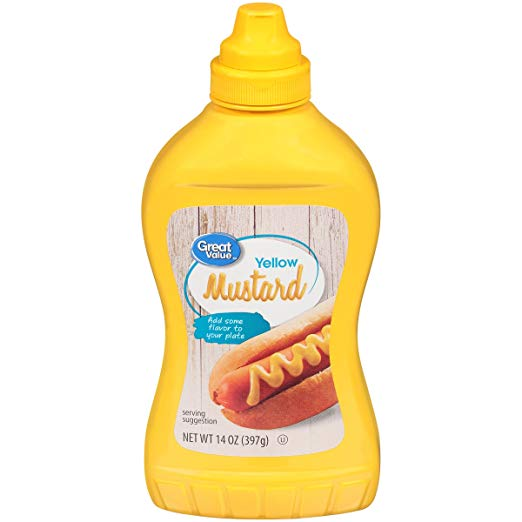 Great Value Yellow Mustard, 14 oz