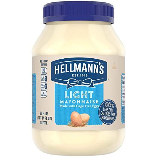 Hellmann's Mayonnaise, Light, 30 oz
