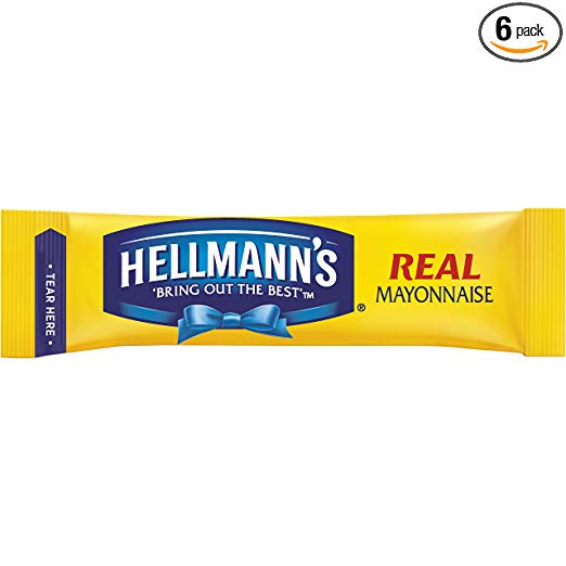 Hellmann's To Go Packets Real Mayonnaise, 3.8 Fl Oz