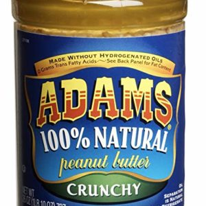 Adams 100% Natural Peanut Butter, Crunchy, 26 oz