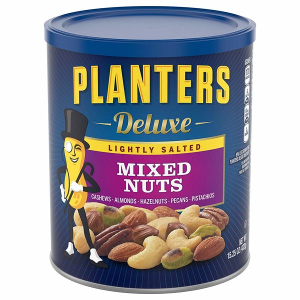 Planters Deluxe Lightly Salted Mixed Nuts (15.25 oz Canister)