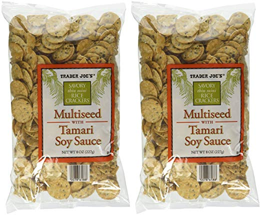 Trader Joe's Multiseed with Soy Sauce Rice Crackers Pack of 2