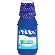 Phillips Milk of Magnesia Fresh Mint Saline Laxative, 12 FZ (Pack of 4)