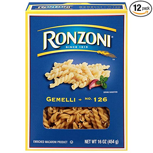Ronzoni Gemelli, 16 oz (Pack of 12)