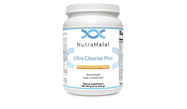 NutraHalal Ultra Cleanse Complete - Halal DNA Tested Vegan Protein Blend Supplement - Contains Aminogen, Quatrefolic and Methylcobalamin - 756 Grams