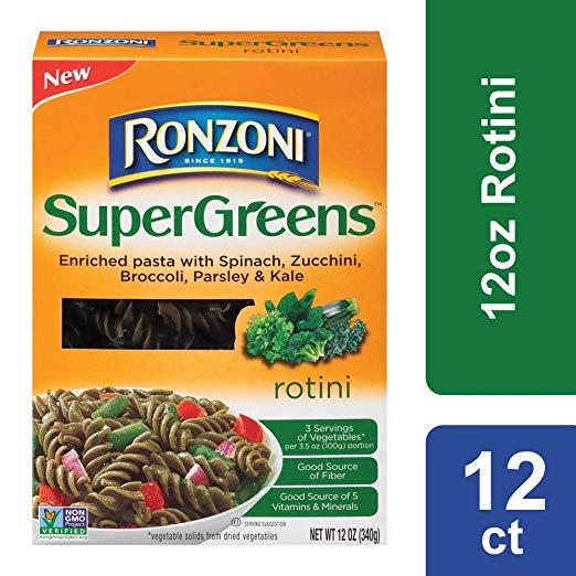 Ronzoni Supergreens Rotini, 12 oz (Pack of 12)