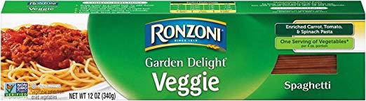 Ronzoni Garden Delight Spaghetti, 12 oz (Pack of 20)