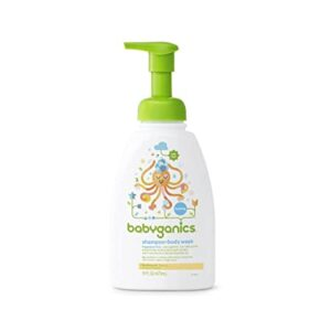 Babyganics Foaming Shampoo and Body Wash, Fragrance Free, 16 Ounce