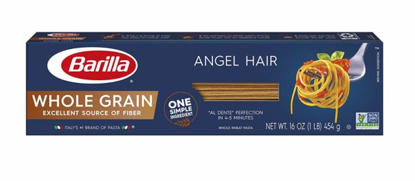 Barilla Whole Grain Pasta, Angel Hair, 16 Ounce