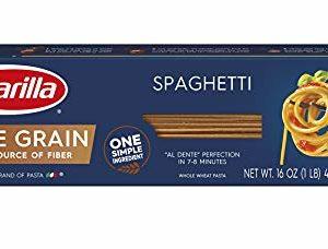 Barilla Whole Grain Pasta, Spaghetti, 16 Ounce (Pack of 12)