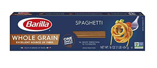 Barilla Whole Grain Pasta, Spaghetti, 16 oz