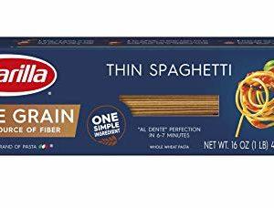 Barilla Whole Grain Pasta, Thin Spaghetti, 16 oz